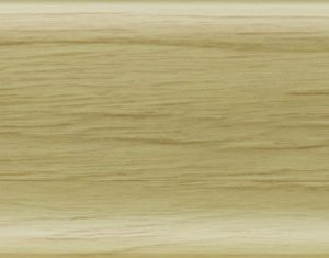 Плинтус ПВХ Salag (Салаг) NGF 56 Ясень Белый 2,5м 56мм NGF058