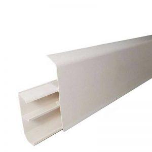 Купить плинтус ПВХ с кабель каналом Royce Белый Матовый 318 в Смоленске и Смоленской области по низкой цене