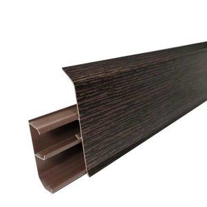 Купить плинтус ПВХ с кабель каналом Royce Венге Цаво 325 в Смоленске и Смоленской области по низкой цене